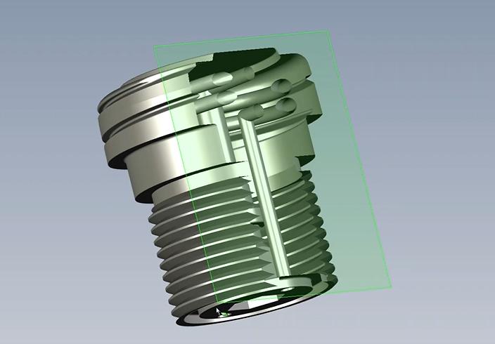 3d steel screw model