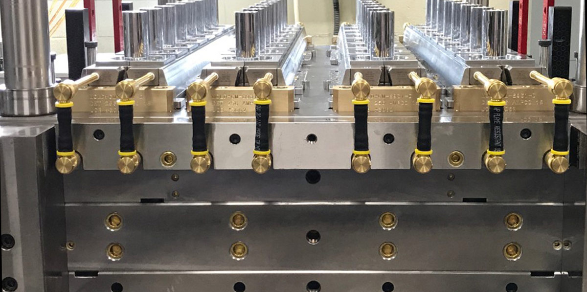Large 32 Cavity Production mold side view