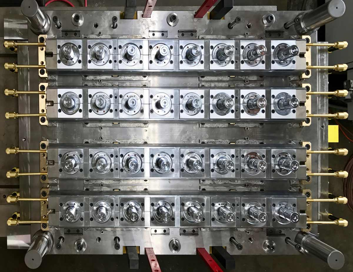 Large 32 Cavity Production mold side one